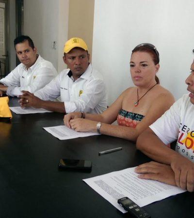 Firma candidato del PRD compromiso para reciclaje de propaganda electoral en Distrito 03