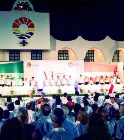 ALEJADO DEL BULLICIO…: Con la ausencia del Gobernador, Cancún celebra 45 años de su fundación; Borge prefirió viajar a Washington