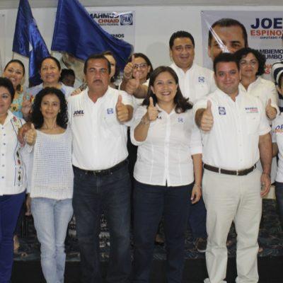Se reúnen liderazgos del PAN para apuntalar candidaturas de diputados en Quintana Roo
