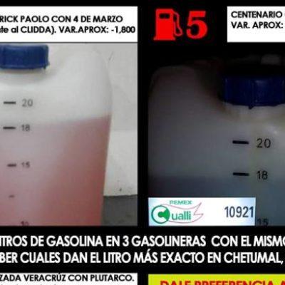 Para evitar ser balconeados en grupo de Facebook, empresarios prohíben vender gasolina en bidones en Chetumal