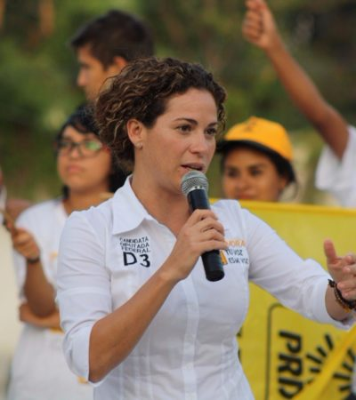 Plantea Iris Mora más presupuesto para educación, cultura y deportes
