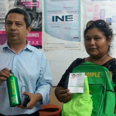 Denuncian ante el INE al PVEM por continuar con la entrega de publicidad prohíbida y coaccionar el voto en Cancún