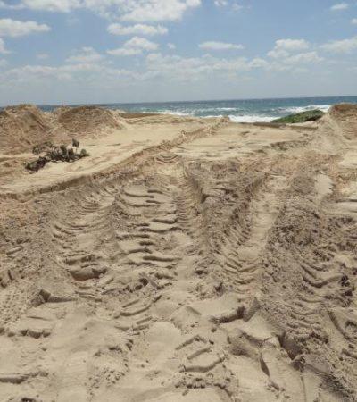 ROBO EN DESPOBLADO EN COZUMEL: Denuncian impune saqueo de arena en Punta Morena