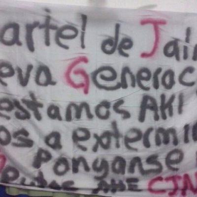 """""""YA ESTAMOS AKI…"""": Con narcomanta, Cártel de Jalisco Nueva Generación amenaza con desatar más violencia en Cancún"""