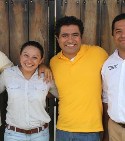 Apuntala dirigencia del PRD campaña de sus candidatos en Quintana Roo