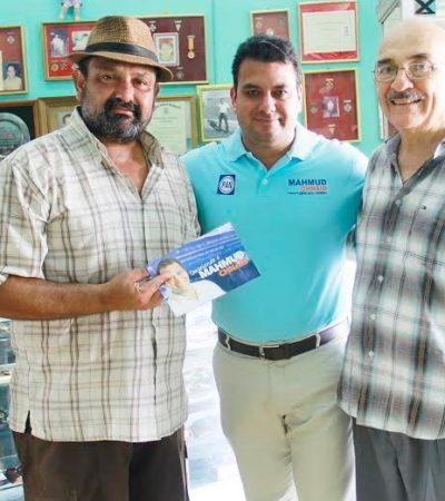 Ofrece Mahmud Chnaid a comerciantes de la Avenida Héroes de Chetumal legislar contra la excesiva carga tributaria