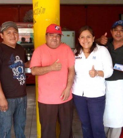 En Cozumel, refrenda Fabiola Ballesteros su compromiso con las familias quintanarroenses