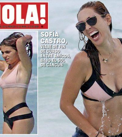 Dan portada en revista de chismes a hija de Angélica Rivera por un reciente viaje a Cancún