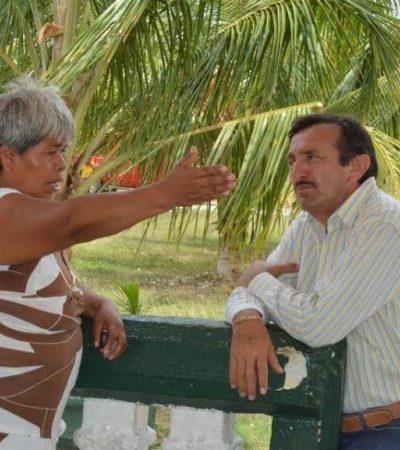 Recorre Domingo Flota comunidades del sur de QR y advierte que rechazará cualquier intento para privatizar el agua