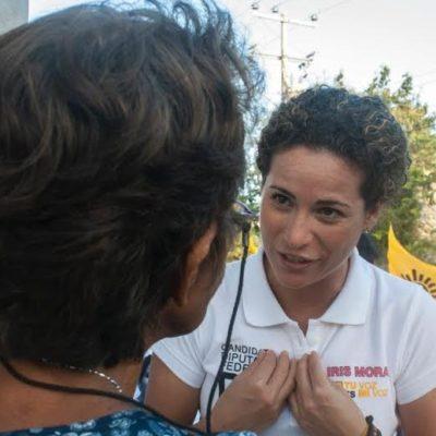 Se compromete Iris Mora a respaldar más seguridad e infraestructura para áreas públicas de Cancún