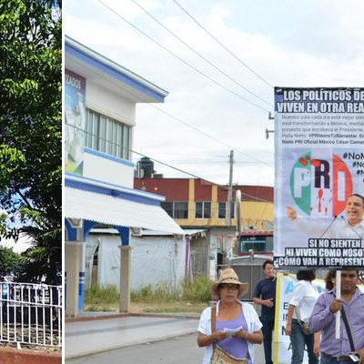 """TRABAJADORES ALZAN LA VOZ EN QR: Marchan sindicatos en Cancún y Chetumal; """"no más PRI"""" y """"fuera Peña Nieto"""", las consignas"""