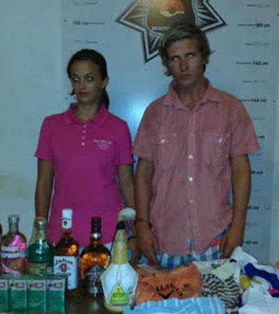 SE PASARON DE LISTOS: Detienen a pareja de extranjeros por estafa en dos hoteles de lujo de Cancún