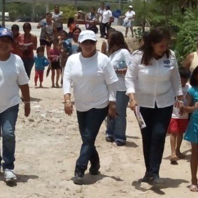 En recorrido por zonas marginadas de Cancún, se compromete Fabiola Ballesteros con más apoyos a zonas irregulares: