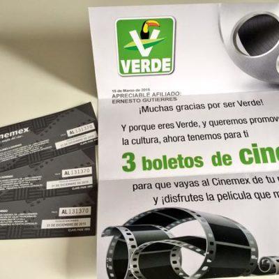 EL TUCÁN NO ESCARMIENTA: Impone Tribunal otra multa por 5 mdp al PVEM por insistir en repartir boletos para ir al cine