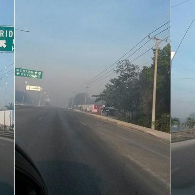 INCENDIOS FATIGAN A CANCÚN: Sigue afectando a vecinos de la periferia una extensa humareda por siniestros no controlados