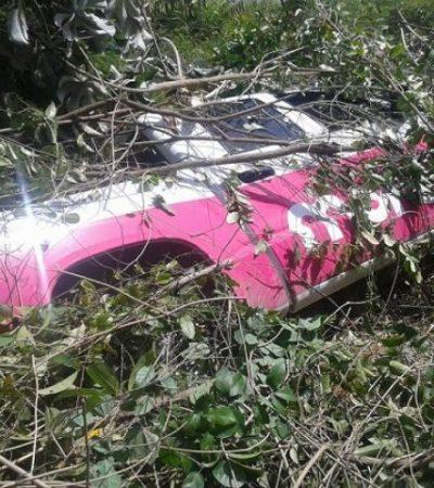 VUELCA CAMIONETA DE MORCILLO: Documentan accidente de unidad del candidato independiente por el Distrito 02
