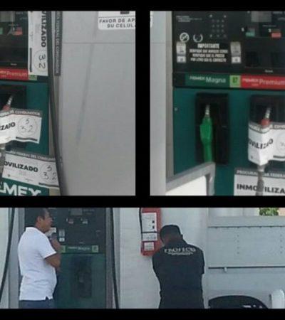 NO DABAN LITROS DE A LITRO: Por denuncias ciudadanas en redes, inmovilizan bombas en gasolinera de Chetumal