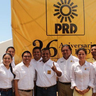 Inicia PRD Jornada por Incremento al Salario, al celebrar aniversario 26