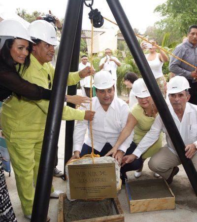 EL 'NOA-NOA' EN LA RIVIERA MAYA: Pone Juan Gabriel primera piedra de centro de espectáculos y museo en complejo hotelero