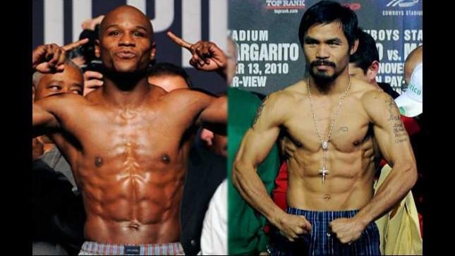 """""""AHORA LO QUE TOCA ES PELEAR"""": Floyd Mayweather y Manny Pacquiao aprueban la báscula y están listos para el combate"""