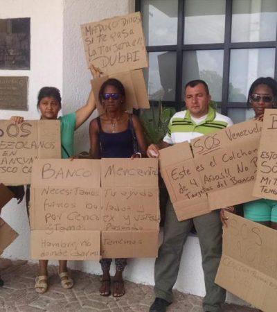 TURISTAS VENEZOLANOS, 'ATRAPADOS' EN CANCÚN: Por bloqueo de tarjetas de su gobierno, no cuentan con recursos para pagar su viaje