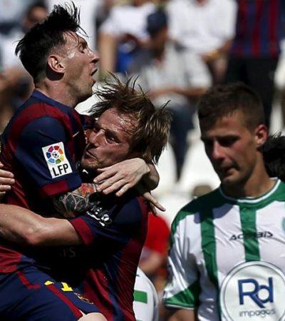 CON PASO DE CAMPEÓN SE APROXIMAN AL TÍTULO: Con triplete  de Luis Suárez y doblete de Messi, el Barsa aplasta 8-0 al Córdoba