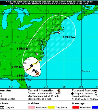 SE ADELANTA TEMPORADA DE HURACANES: Se forma en el Atlántico la tormenta subtropical 'Ana', sin riesgos para QR
