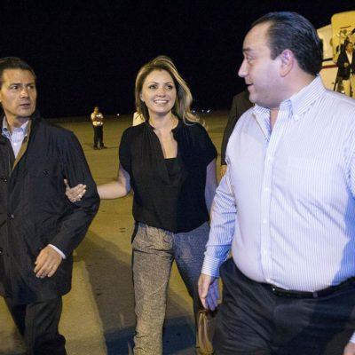 Recibe Gobernador a Peña Nieto en la víspera de la inauguración de Foro Económico Mundial en la Riviera Maya