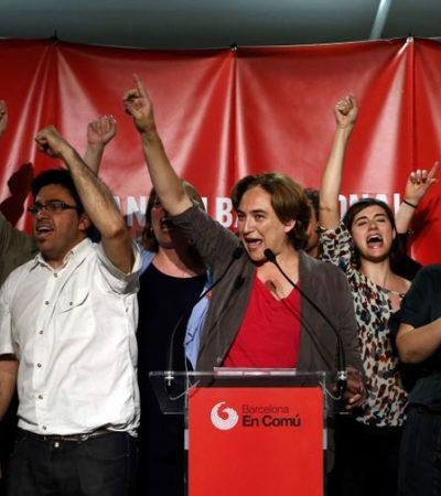 LOS INDIGNADOS, AL PODER EN ESPAÑA: Ganan candidatos de izquierda y alternativos las ciudades de Madrid y Barcelona