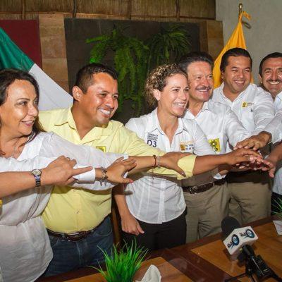 APUESTA NAVARRETE A RECUPERAR EL VOTO: Líder del PRD refrenda apoyo a candidatos en QR y dice que ganarán