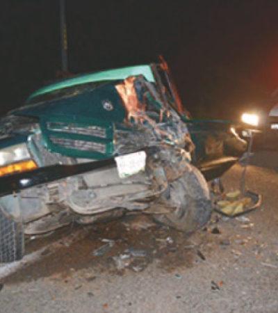 PROVOCA EBRIO CHOQUE EN CARRETERA: Saldo de 14 heridos por aparatoso accidente en JMM