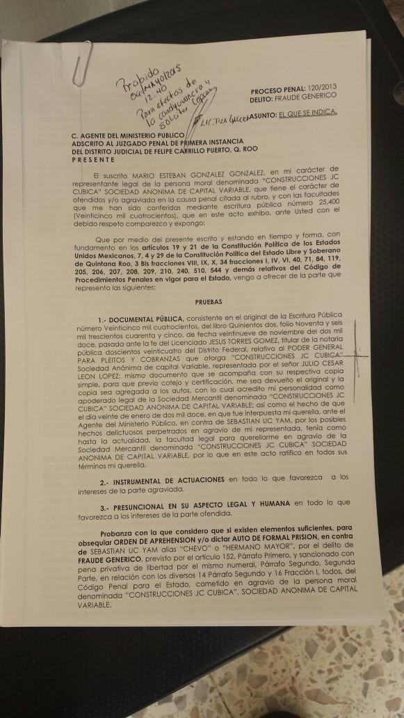 SE REACTIVA PROCESO CONTRA SEBASTIÁN: Constructor ratifica denuncia de fraude contra ex Alcalde de FCP y pide nueva orden de aprehensión