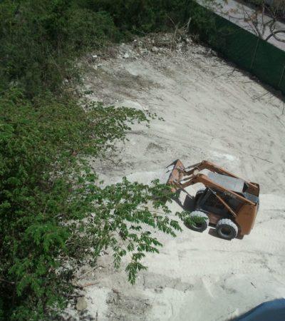 Reinicia constructora trabajos en el predio del demolido condominio 'Sol Maya' en Playa del Carmen