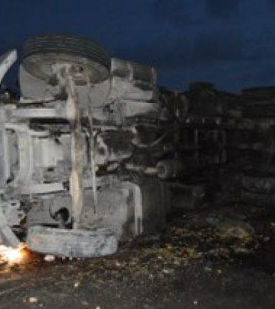 TRÁGICO ACCIDENTE: Muere trabajador al volcar camión recolector de basura en Cancún