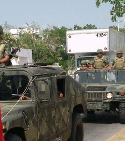 Con resguardo militar, llegan las boletas electorales a distritos de QR