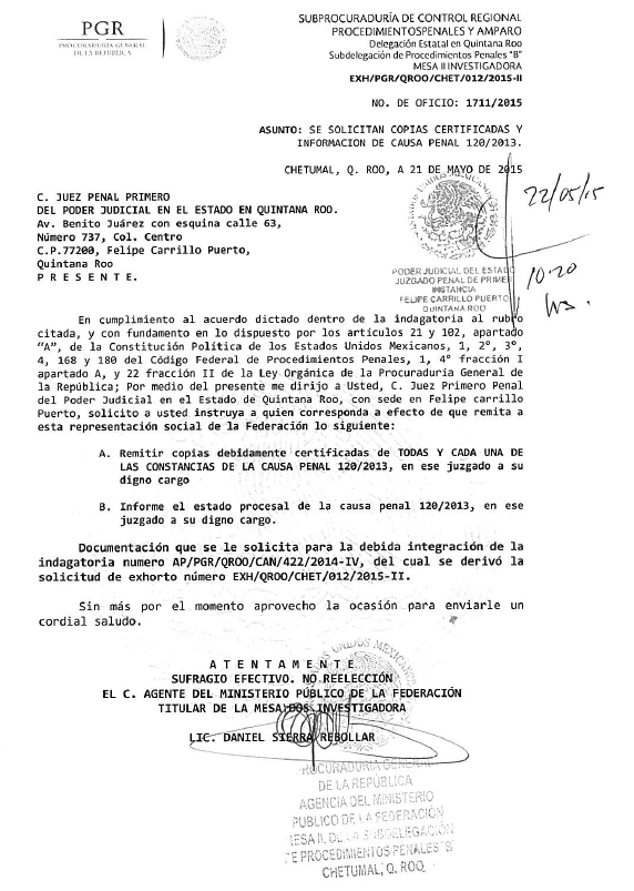 LE PISAN LOS TALONES A SEBASTIÁN: Solicita PGR a juez de FCP entregar expediente de la denuncia contra el ex Alcalde Uc Yam
