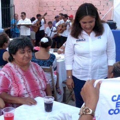 En Cozumel, dice Fabiola Ballesteros que defenderá derechos de adultos mayores
