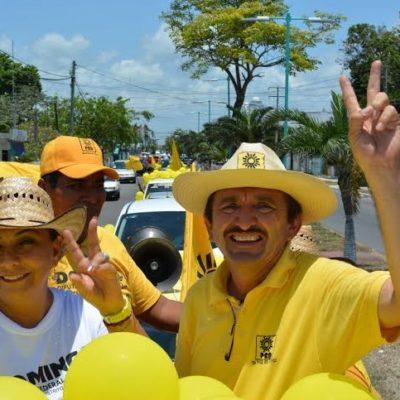 Total respaldo a Domingo Flota en mega caravana por las calles de Chetumal