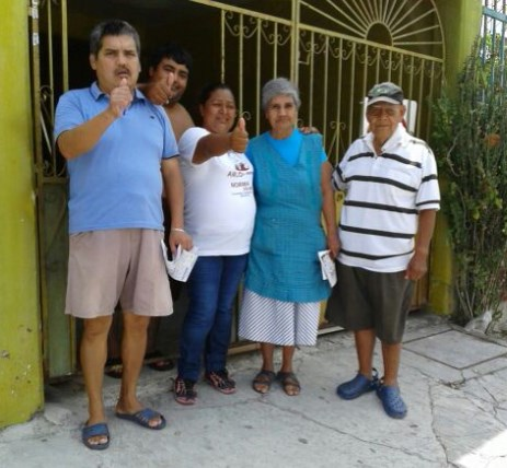 Recorre Norma Solano poblado de Bonfil y se muestra preocupada por violencia contra menores