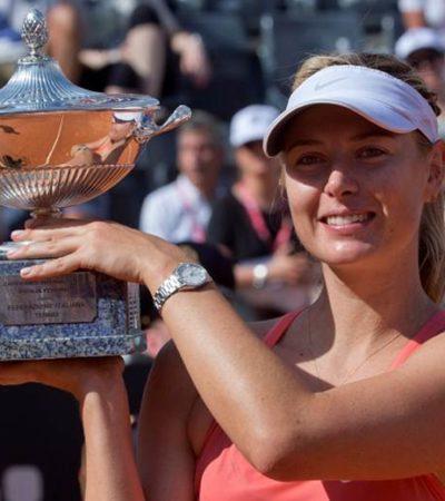 SHARAPOVA SE CORONA EN ROMA: La tenista rusa vence a la española Carla Suárez  y alza la copa por tercera ocasión