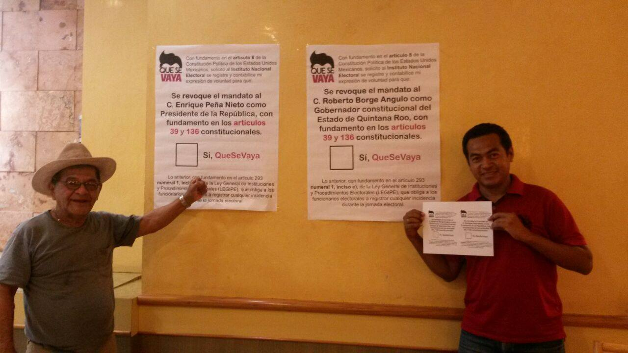 """¿QUE SE VAYA BETO TAMBIÉN?: Junto con EPN, promueven activistas la revocación de mandato de Borge """"por su incapacidad como gobernante"""""""