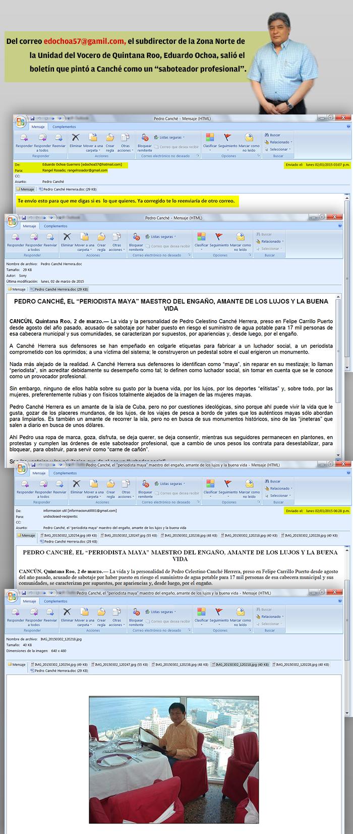 EL TRUCULENTO TINGLADO DE LA DIFAMACIÓN: Por órdenes de Borge y desde la Vocería se lanzó la campaña de desprestigio contra Pedro Canché