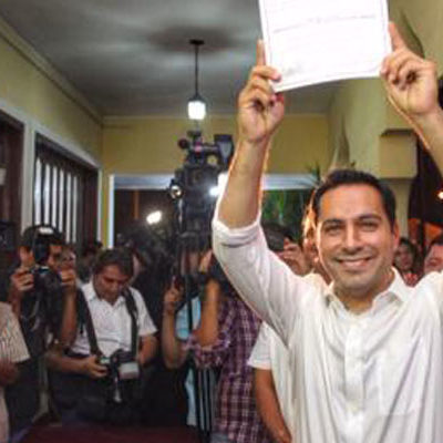 RATIFICAN TRIUNFO DEL PAN EN MÉRIDA: Tras largo recuento, entregan constancia de mayoría a Mauricio Vila en la capital yucateca