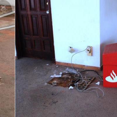 ESCALAN ROBOS EN CANCÚN: Ladrones se llevan cajero automático en plaza Santa Fe como si nada
