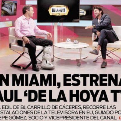 """EL ESTILO FRÍVOLO"" DE GOBERNAR DE PAUL CARRILLO: Viaja Alcalde de Cancún a Miami para visitar canal de TV de Óscar de la Hoya"