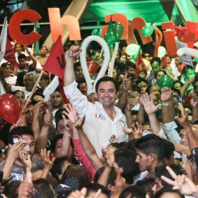CIERRA 'CHANITO' CAMPAÑAS EN COZUMEL Y SOLIDARIDAD: Llama a votar por la continuidad para 'fortalecer' a QR