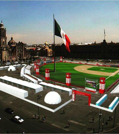 CONVERTIRÁN EL ZÓCALO EN UN DIAMANTE: Celebrarán 90 años de la Liga Mexicana de Beisbol con un escenario inédito