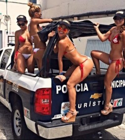 EL BALCÓN DEL 10 | Chicas en bikini en patrulla de Cancún
