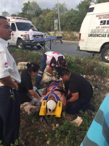 Grave, un sexagenario arrollado en la colonia 'El Milagro' de Cancún
