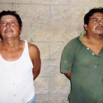 Rescatan policías a supuesto ladrón cuando vecinos pretendían lincharlo; detienen a dos agresores